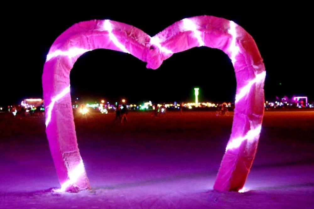 Burning Man coeur