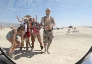 Burning Man mirroir