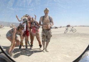 Burning Man mirroir